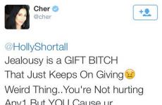 Cher had a meltdown at an Irish girl on Twitter