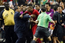 There were crazy scenes last night as Mexico controversially reached Gold Cup final