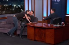 Someone tried to smell Colin Farrell on Jimmy Kimmel last night and it was so awkward