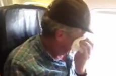 Watch a man taking his first flight at the age of 57