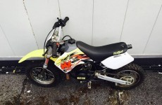 Gardaí want to know if this very tiny motorbike (or a bunch of other things) might be yours
