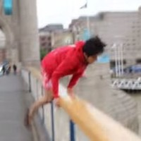Watch what happened when an idiot YouTuber jumped into the River Thames on a dare