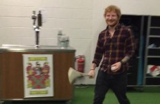 Ed Sheeran had a puck about in Croke Park ahead of his gig tonight