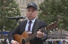 Watch: Paul Simon performs The Sound of Silence at Ground Zero