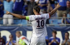 Zlatan clattered John Terry with an elbow last night