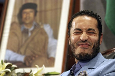 Al-Saadi Gaddafi in happier times in 2005