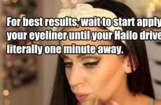 What it would be like if make-up tutorials were truly honest