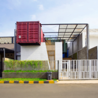 These old shipping containers have been used to create a luxury home