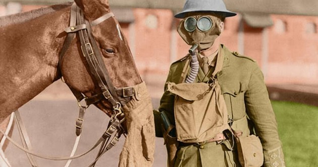 These amazing colourised photographs bring World War I to life