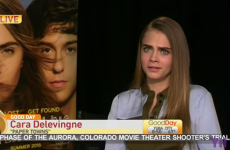 Cara Delevingne got told off for being 'sarcastic' in a painfully awkward interview
