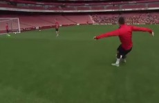 Laurent Koscielny has every right to dine out on this top corner rabona all season long