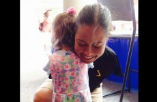 This heartwarming hug between a little girl and a pilot has melted the internet's heart