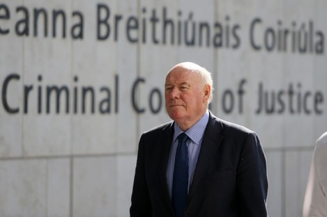 Pictured arriving at the Central Criminal Courts of Justice in Dublin is Bernard Daly (65)