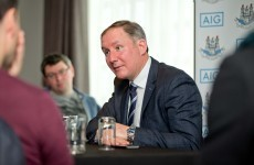 Jim Gavin didn't want to talk about the Davey Byrne incident yesterday