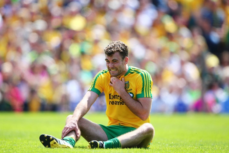 Eamonn McGee injured his ankle against Galway (file photo).
