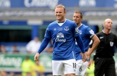 Wayne Rooney was back at Goodison Park in the blue of Everton this afternoon