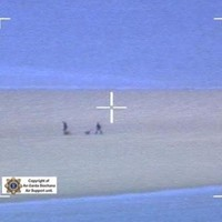 Garda and Coast Guard choppers rescue stranded walkers (and dogs) off Sandymount