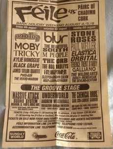 20 years on, Féile '95 still boasts an incredible line up