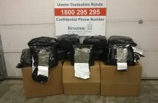 Somebody tried to post €1.2 million worth of cannabis