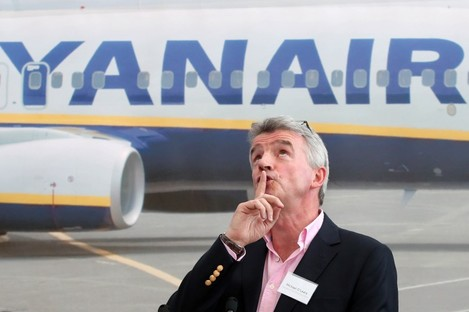 Michael O'Leary in Swords last April