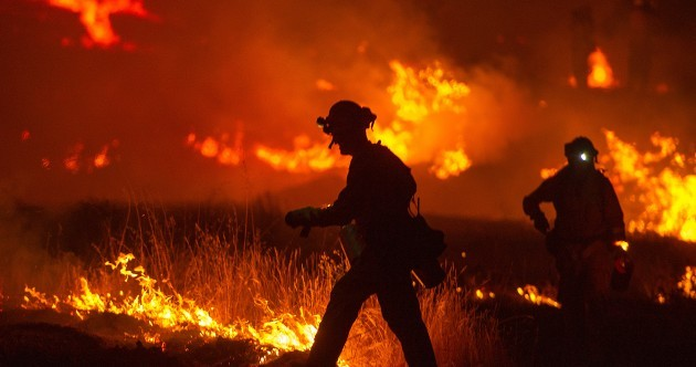 "PHOTOS: Thousands of firefighters battle ""monster"" California wildfire"