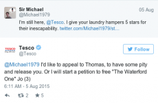 This Twitter conversation between Tesco and a Waterford man is highly entertaining