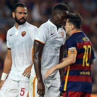 Messi should have been shown red last night after headbutting a Roma player