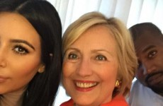 Kim and Kanye took a selfie with Hillary Clinton, and it caused quite the reaction