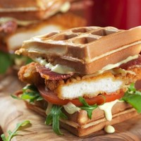 Look at the 'chicken waffle burger' you can get in TGI Fridays