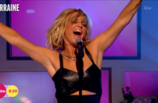 Everyone's talking about Sarah Harding's 'awkward miming' on ITV this morning