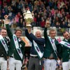 Giddy up... Ireland won the Aga Khan Trophy at the RDS this afternoon