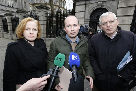 AAA/Socialist Party TDs Ruth Coppinger, Paul Murphy and Joe Higgins.