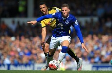 Ross Barkley smashes in the goal of the day as Everton held by Hornets