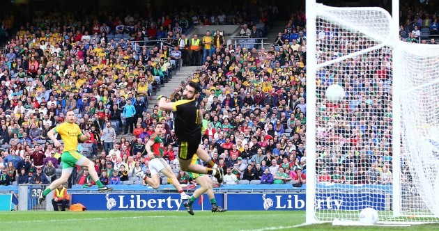 Did Lee Keegan mean to lob the goalkeeper or was it a complete fluke?