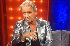 Johnny Logan wore a silver suit on Miriam last night and people couldn't cope