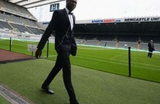 One of Newcastle's new signings dressed to impress on his first day
