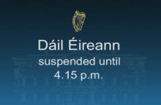 Dáil suspended over Halligan row with Ceann Comhairle