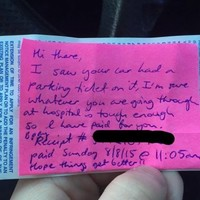 This note made a new mother's day after a stay in hospital