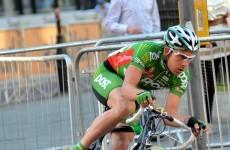 Watch this Irish cyclist's dramatic crash in US road race