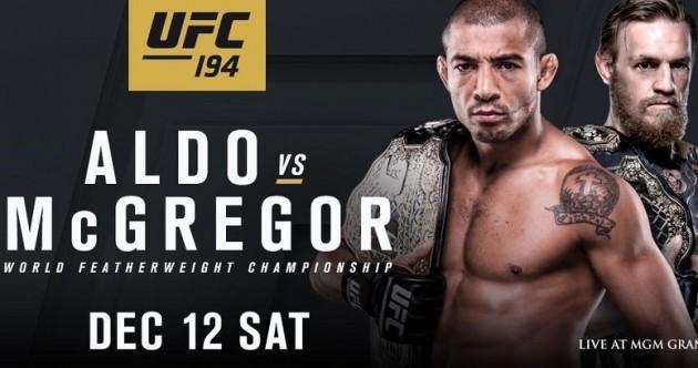 Book your flights because Aldo vs. McGregor is now official for Vegas in December