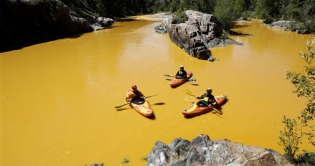 America's environmental watchdog spilled chemicals into a river and turned it orange