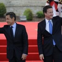 Cameron and Sarkozy visit Libya