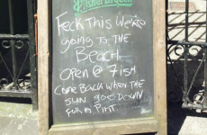 This Galway pub had the best possible response to the glorious weather
