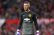 David de Gea will remain on the fringes at Manchester United for a little longer