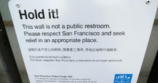 San Francisco paints walls with repellent that makes pee spray back on your shoes and pants