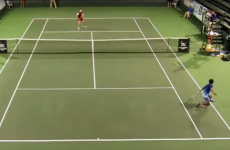 Japanese tennis player hits a jaw-dropping shot that would make Roger Federer blush
