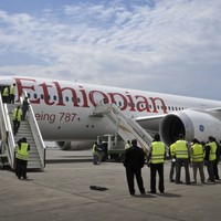 Baggage handlers find man stowed away among the luggage on a plane