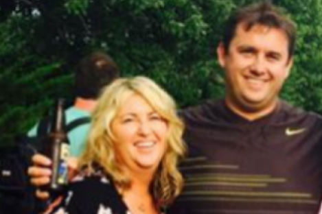 Tracey Lynch with her brother Jason Corbett