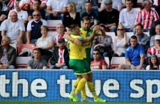 Wes Hoolahan was on fire for Norwich as they won at Sunderland earlier
