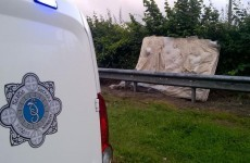 Gardaí dealt with thirty-one 999 calls about this at the weekend (yes, it's a mattress...)